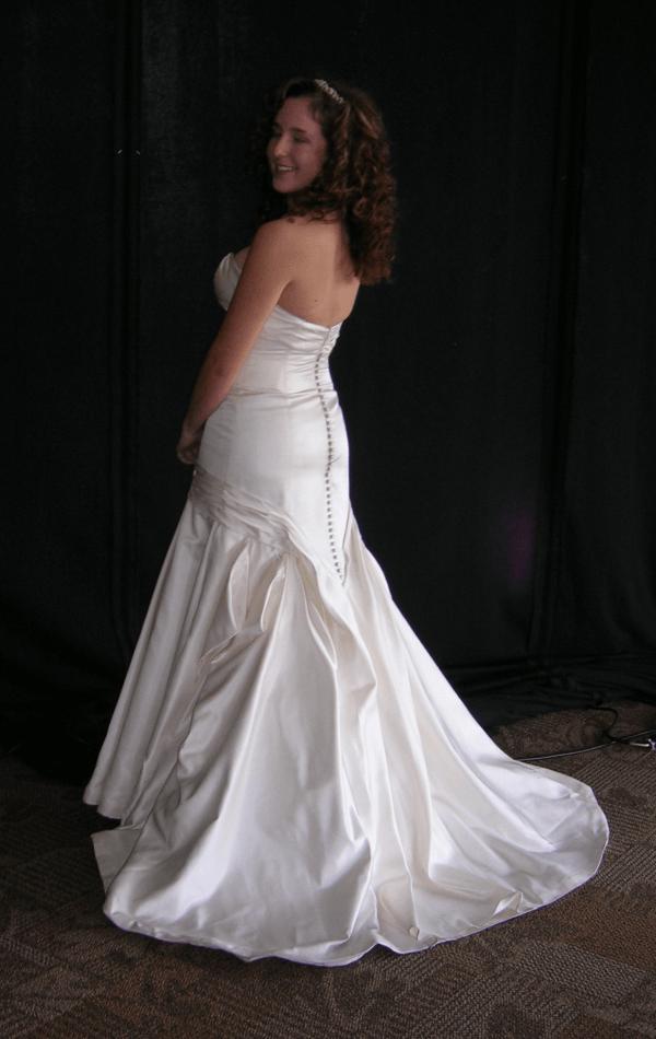 wedding gown alterations by Marci Heiser, seamstress near Denver, Colorado