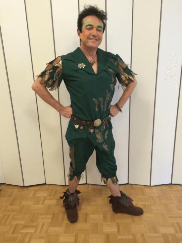 Peter Pan fantasy costume, created by Marci Heiser, near Denver, Colorado