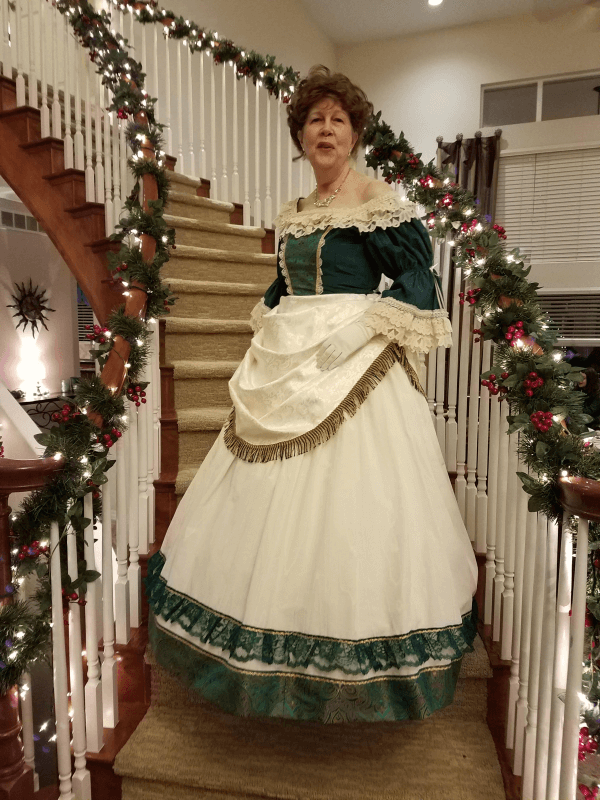 restyling and embellishing - Victorian costume - after