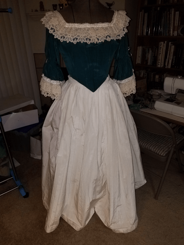 restyling and embellishing - Victorian costume - before